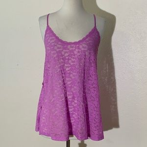 Victoria's Secret Womens Babydoll S Pink  Lace